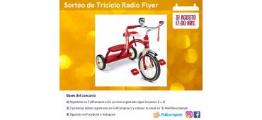 Sorteo de Triciclo Radio Flyer   31 Agosto 2021   17:00 HRS.