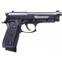 Crosman PFAM9B Pistola de aire BB Air con retroceso automático y potencia de CO2, color negro