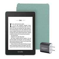 Paquete Kindle Paperwhite Essentials que incluye Kindle Paperwhite - Wifi, compatible con anuncios, funda de cuero de Amazon y adaptador de corriente