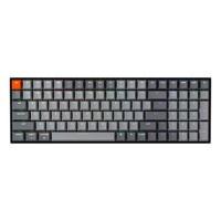 Teclado mecánico Keychron K4, teclado mecánico Bluetooth con retroiluminación RGB / interruptor azul Gateron / USB con cable C / disposición del 96%, teclado inalámbrico para juegos para Mac Windows PC Gamer - Versión 2