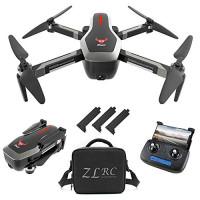 GoolRC SG906 GPS RC Drone con cámara frontal 4K HD y cámara orientada hacia abajo 720P, 5G WiFi FPV plegable sin escobillas Drone, posicionamiento de flujo óptico Altitude Hold RC Quadcopter con bolso y 3 baterías