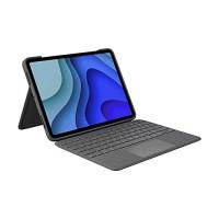 Funda con teclado Logitech Folio Touch para iPad con trackpad y conector inteligente para iPad Pro de 11 pulgadas - Gris