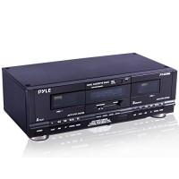 Pyle Home Digital Tuner Cubierta de casete doble | Reproductor de medios | Dispositivo de grabación de música con cables RCA | Hardware de montaje en bastidor conmutable | Selector de cinta CrO2 | Contador de cinta de 3 dígitos incluido - 110V / 220V