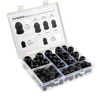 TUPARKA Paquete de 50 prensaestopas impermeables, ajustables, conectores de cable de 3-16 mm PG7 PG9 PG11 PG13.5 PG16 PG19, juntas de prensaestopas de plástico con juntas en caja de PP
