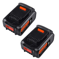 (2 paquetes) Batería de repuesto para DeWalt 20V 20 Volt Max XR 4.0AH Paquete de baterías de iones de litio DCB204-2 DCB206-2