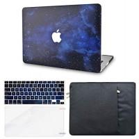 KECC Funda para portátil compatible con MacBook Air de 13 con funda para teclado + funda + protector de pantalla (paquete) Funda rígida de plástico A1466 / A1369 (Night Sky 4)