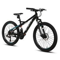 Hiland Bicicleta de montaña de 27,5 pulgadas, 21 velocidades, con horquilla de suspensión, marco de aluminio