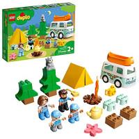 LEGO DUPLO Town Family Camping Van Adventure 10946 Construcción, juego y aprendizaje Juguete de campamento para niños pequeños y niños; Nuevo 2021 (30 piezas)