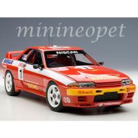AUTOAart 89279 NISSAN SKYLINE GT-R R32 BAÑO GANADOR 1992 RICHARDS # 1 1/18