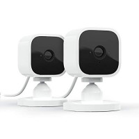 Blink Mini - Cámara de seguridad inteligente enchufable para interiores compacta, video HD de 1080p, visión nocturna, detección de movimiento, audio bidireccional, funciona con Alexa - 2 cámaras