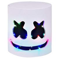 Halloween DJ Mask - Festival de música Máscaras de cabeza completa Casco para hombres Mujeres Niños Acción de gracias Navidad Halloween Glow Máscara LED